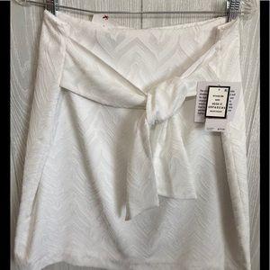 Nine West Ivory on Ivory Skirt Size 12